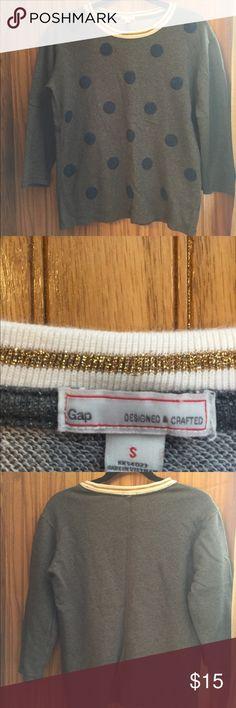 Gap beaded polkadot 3/4 sleeve top EUC no flaw GAP Sweaters Crew & Scoop Necks