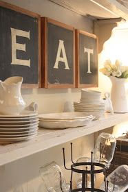 Darling idea to add something like this to above my china cabinet!