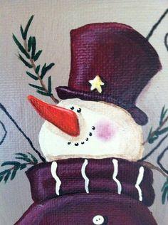 Snowman Mitten Painting on Etsy, $15.00