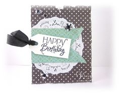 Card by Teresa Kline using Verve Stamps. #vervestamps