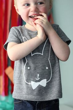 DIY BUNNY TEES — T-shirts de coelhinhos para fazer em casa, com o desenho para imprimir! || Mini style blog