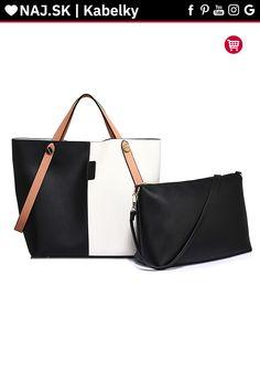Trendy kabelka Netty bielo / čierna AG00198 Shopper Bag, David Jones, Zara, Fashion, Moda, Fashion Styles, Fashion Illustrations