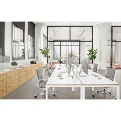 Handcrafted, American-made modern office furniture combines beauty and functionality to tackle any size project. Home office furniture that best suits you. Contemporary Desk, Modern Desk, Modern Table, Modern Room, Contract Furniture, New Furniture, Office Furniture, Office Chairs, Discount Furniture