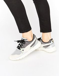 Duplex Sneakers by Puma. Sneakers by Puma, Breathable mesh upper, Suede panels, Holographic inserts, Lace-up fastening, Padded tongue and cuff...