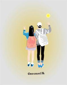 Cute Couple Art, Anime Love Couple, Couple Cartoon, Cute Couples, Wallpapers Tumblr, Cute Cartoon Wallpapers, Tumblr Couples, Anime Couples, Couple Illustration