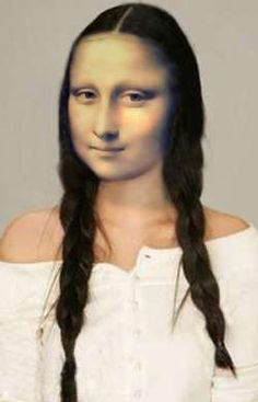 Mona in braids Lisa Gherardini, Mona Lisa Portrait, Mona Friends, La Madone, Mona Lisa Parody, Mona Lisa Smile, Renaissance Artists, Many Faces, Italian Artist