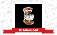 The Copper Pearl Pro 600® Stand Mixer is the appliance of my holiday dreams. Declare and Share your favourite KitchenAid small appliance for a chance to win it!