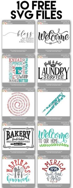 10 Free SVG Files for Cricut and Silhouette