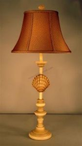 """Scallop Shell Electric Lamp 33"""" from Handcrafted Nautical Decor - In stock and ready to ship"""