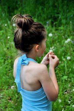 Freebook (niederländisch aber gut bebildert) Neckholder Kinder/ Mädchen 86 - 164  nähen (kostenloses  Schnittmuster)