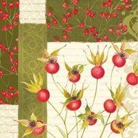 3032 Servilleta decorada Navidad