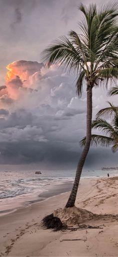 Amazing beach sunset at Grand Bahia Principe Bavaro - Punta Cana, Dominican Republic