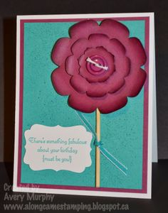 Along Came Stamping: FM142 Flower Birthday #StampinUp #CreateaCupcake