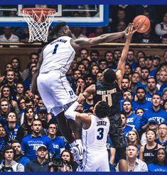 Zion Williamson at Duke Basketball Skills, Basketball Coach, Basketball Legends, Football And Basketball, College Basketball, Softball, Pelicans Basketball, Virginia Basketball, Mike Jordan