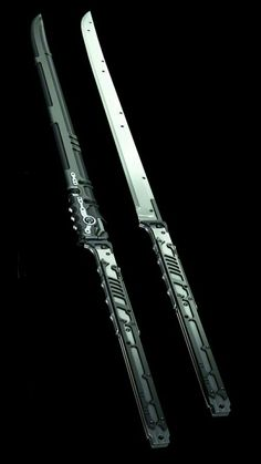 jinroh catana and combat knife. Passionate pursuit of drool worthy amazing gear. Ninja Weapons, Sci Fi Weapons, Weapon Concept Art, Fantasy Weapons, Weapons Guns, Zombie Weapons, Cosplay Weapons, Swords And Daggers, Knives And Swords