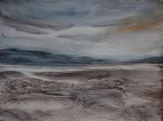 Low Tide, 2016 Jean Lurssen  Watercolor  Unique Work  Size : 11 x 15 x 0.1 in.