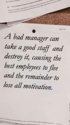 Work Quotes: QUOTATION - Image : Quotes Of the day - Description I've seen this. Sadly Sharing is Caring - Don't forget to share this quote Job Quotes, Quotable Quotes, Funny Quotes, Bad Boss Quotes, Bad Manager Quotes, The Words, Positive Quotes, Motivational Quotes, Thoughts