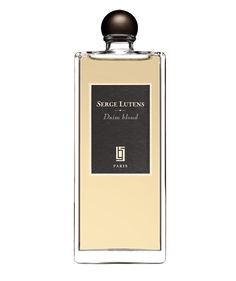 Serge Lutens Daim blond (Pale suede) My first SL full bottle! Accords: bike tires you braked abruptly, iris, powdery, rich plum? As it dries the suede joins, not pale but the soft slightly bitter ripeness of your favorite suede fringe jacket that's been broken in.This is what Bvlgari Black should have been. Daim Blond is subtle, warm, deep fruit, musky, suedy, and hits low in the throat like wine. Lasts with minimal projection, low sillage, Warm with no hint of sweet, spicy or woody.