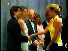 Princess Diana meets Tom Cruise & Nicole Kidman  At the premiere of 'Far and Away' at the Leicester Square Empire Cinema. July 30, 1992.