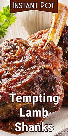 Roasted Lamb Shanks, Slow Cooked Lamb Shanks, Braised Lamb Shanks, Lamb Shanks Pressure Cooker, Lamb Shank Recipe Pressure Cooker, Best Lamb Shank Recipe, Crockpot Lamb, Lamb Ribs, Roast Lamb