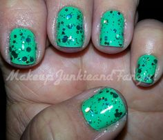 Makeup Junkie and Fangirl: Mint Tropics and Never Too Rich Mani