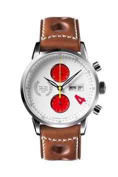 Racing watch. No 13 on the clock. Slick looking.