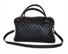 Luxusná tkaná kožená kabelka č. 8558 v čiernej farbe Louis Vuitton Damier, Pattern, Bags, Fashion, Handbags, Moda, Fashion Styles, Patterns, Model