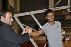 Andrea Burlandi con il nostro preparatore atletico Fabrizio