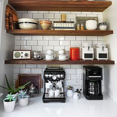 Kitchen shelving in an AD editor's renovated kitchen