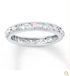 Opal ring beautiful and simple!  Kay jewelers
