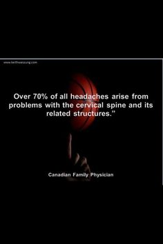 Most Headaches....are a Chiropractic Problem!