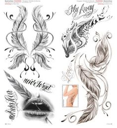 Feder Tattoo Designs