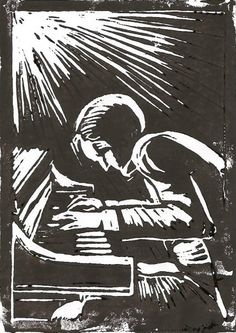 two linocuts without a printing press - WetCanvas