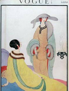 Vintage Vogue cover by Helen Dryden, November 1919 http://guity-novin.blogspot.ca/2013/03/a-history-of-magazine-covers.html?m=1