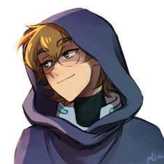 Pidge the Green Paladin in her hooded cloak with a smirk smile on her face from Voltron Legendary Defender