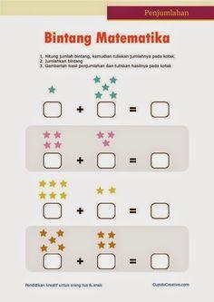 belajar anak kelas 1 SD, penjumlahan angka 1 sampai 10, bintang