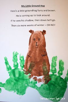 Groundhog Day Crafts and Activities for Preschoolers and Toddlers. The Educators' Spin On It: Tot School – Groundhog Day Ideas Preschool Groundhog, Groundhog Day Activities, Preschool Activities, Preschool Winter, Holiday Activities, Reading Activities, Daycare Crafts, Classroom Crafts, Crafts For Kids