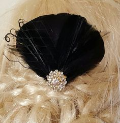 Check out this item in my Etsy shop https://www.etsy.com/listing/287079277/fascinator-blackwedding