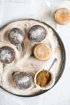 ginger beer cupcakes in cinnamon sugar