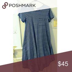 Lularoe XXS Carly LLR xxs blue striped Carly dress. Worn twice. Excellent used condition. LuLaRoe Dresses High Low