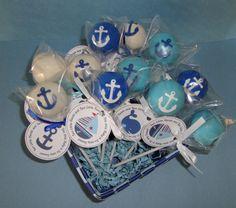 Nautical Cake Pops by SinfullySweetLA on Etsy, $39.00