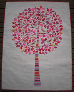 This pattern includes the complete instructions and a full sized pattern sheet to create this whimsical tree design. The project is completed using raw edge appliqué combined with a quick and easy method of turned edge appliqué. This is a terrific project to make a dent in your scrap bag. You will have lots of fun making this beautiful quilt!