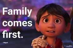 Family comes first Pixar Quotes, Tv Quotes, Disney Quotes, Movie Quotes, Life Quotes, Family Comes First, Disney Pixar Movies, Post Date, First They Came