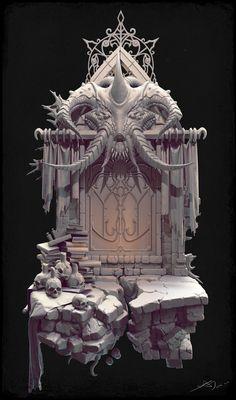 Biologicaldoor_hi, fechin hu on ArtStation at https://www.artstation.com/artwork/biologicaldoor_hi