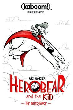 HEROBEAR AND THE KID: THE INHERITANCE #5 Price: $3.99 Author(s): Mike Kunkel Artist(s): Mike Kunkel Cover Artist(s): Mike Kunkel  It's the final issue for HEROBEAR AND THE KID: THE INHERITANCE! Tyler and Herobear finally face off with the mastermind behind all of their trouble, Von Klon! The secret behind Tyler's grandpa is revealed...