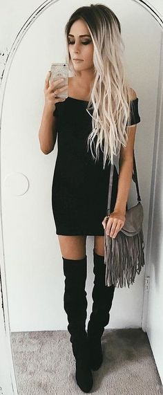 #summer #flawless #outfitideas | Off The Shoulder Little Black Dress