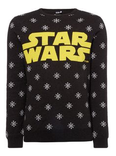 Woven purely in natural cotton with a logo and graphic snowflake pattern, this jumper will make the perfect Christmas present for any Star Wars fan.  Charcoal Disney Star Wars knitted jumper Pure cotton Star Wars logo Graphic snowflake pattern Ribbed trims