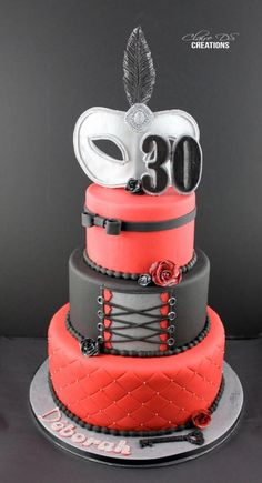 Cake inspired 50 Shades of grey - Cake by Claire DS