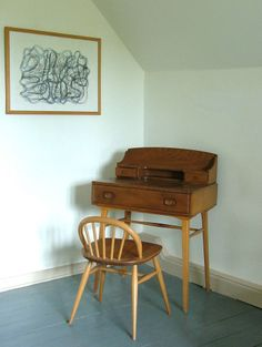Ercol 50s writing/Laptop Desk/Dressing Table/ and Chair Retro Vintage