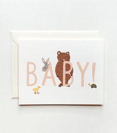 Baby! Card Peach